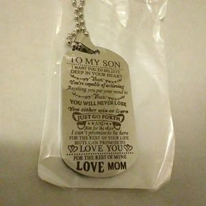 Jewelry - To my Son .. Love Mom pendant charm Metal Necklace